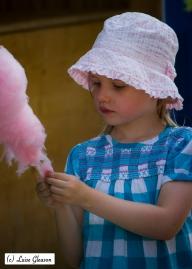 Enjoying Her Cotton Candy