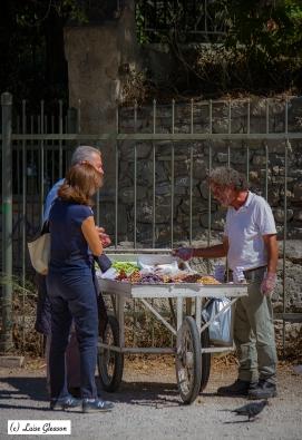 Street Merchant In Athens