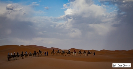 The Caravan Heads Into The Desert