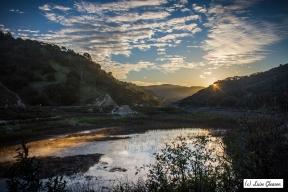 Sunrise over Lake Lopez